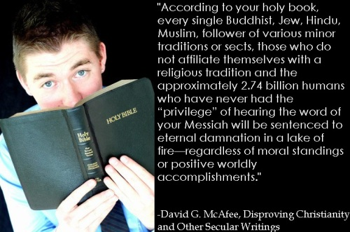 According to your holy book...