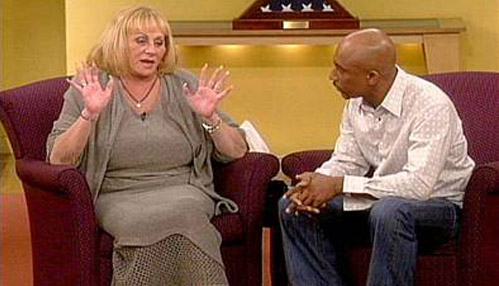 Sylvia Browne with Montel Williams
