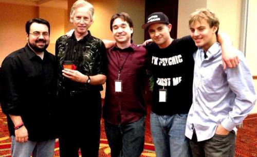 Jerry DeWitt, Sam Singleton, JT Eberhard, David G. McAfee, and Zack Kopplin at the Great Lakes Atheist convention in Toledo, Ohio.