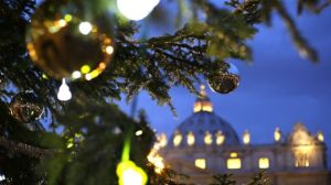 The Vatican Christmas tree is lit up after a ceremony in Saint Peter's Square at the Vatican December 14, 2012. (REUTERS)