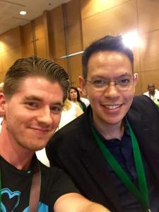 A conference selfie with Red Tani.